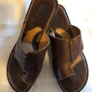 Born brown leather sandals size 10